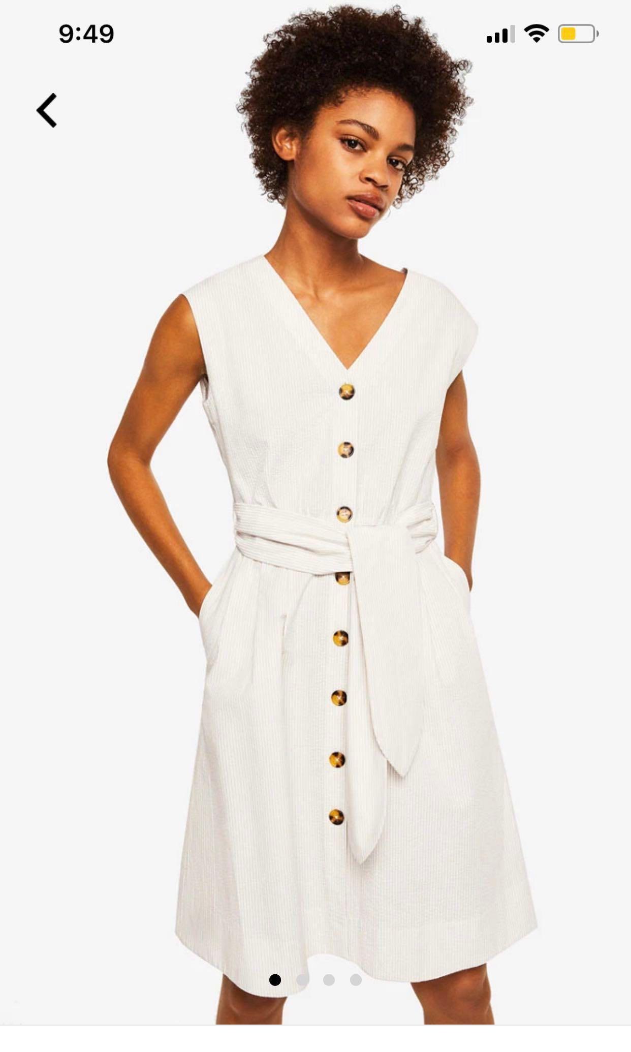 570fe5454d Mango Textured Bow Dress, Women's Fashion, Clothes, Dresses & Skirts ...