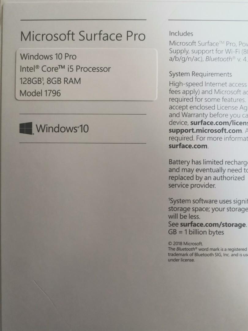 Microsoft Surface Pro Model 1796