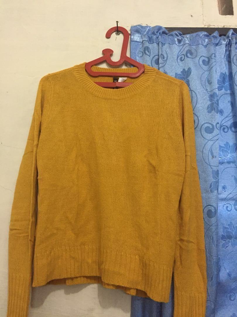 Mustard Sweater h&m