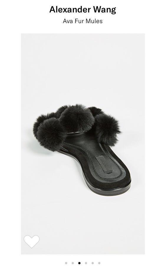 [Negotiable] Authentic Alexander Wang Ava Fur Slide Mule Shoe