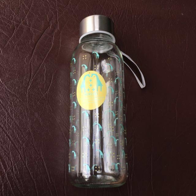 NIB Glass Water Bottle