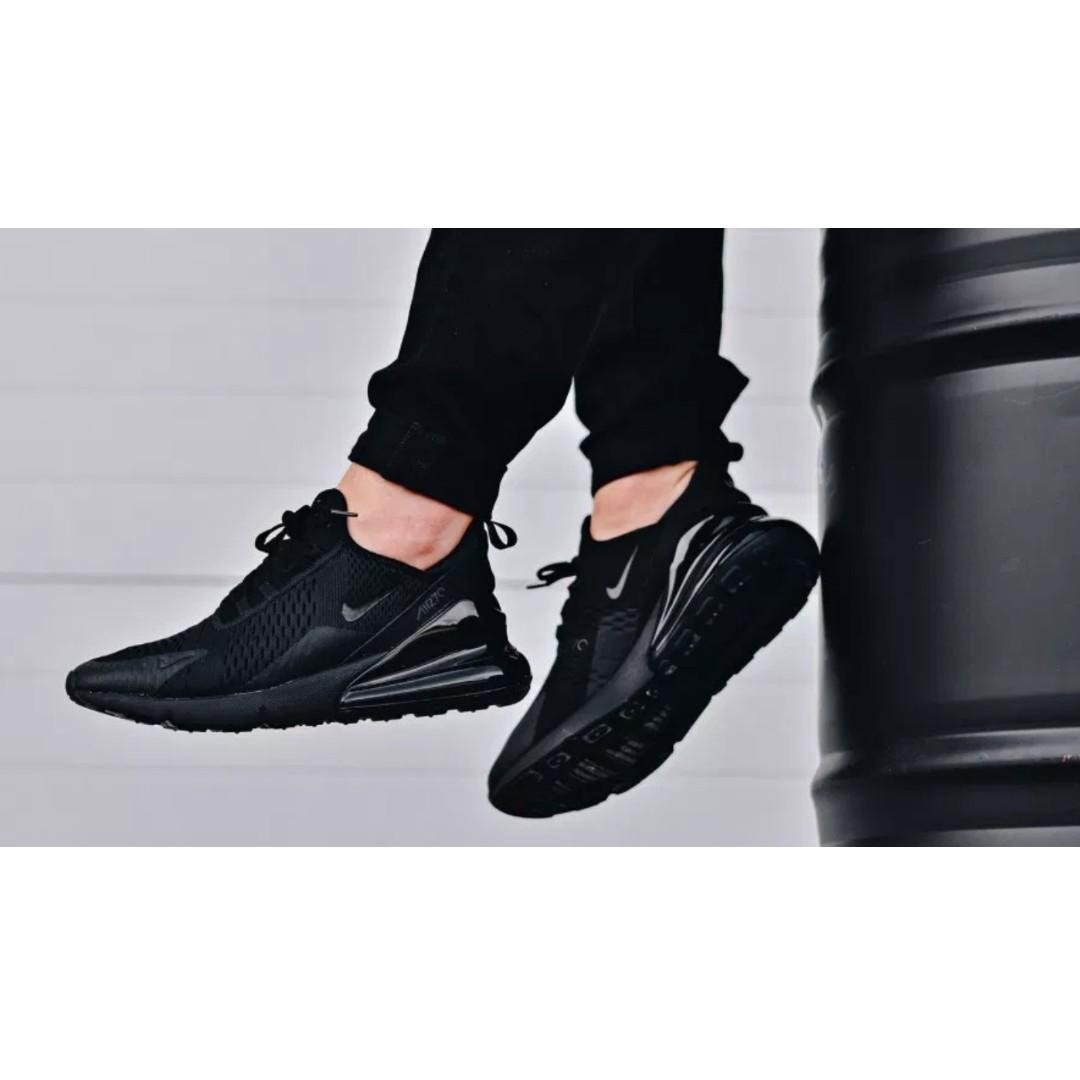 finest selection bde2c 086b1 Nike Air Max 270 Triple Black (MWTS) us 9.5, Women's Fashion ...