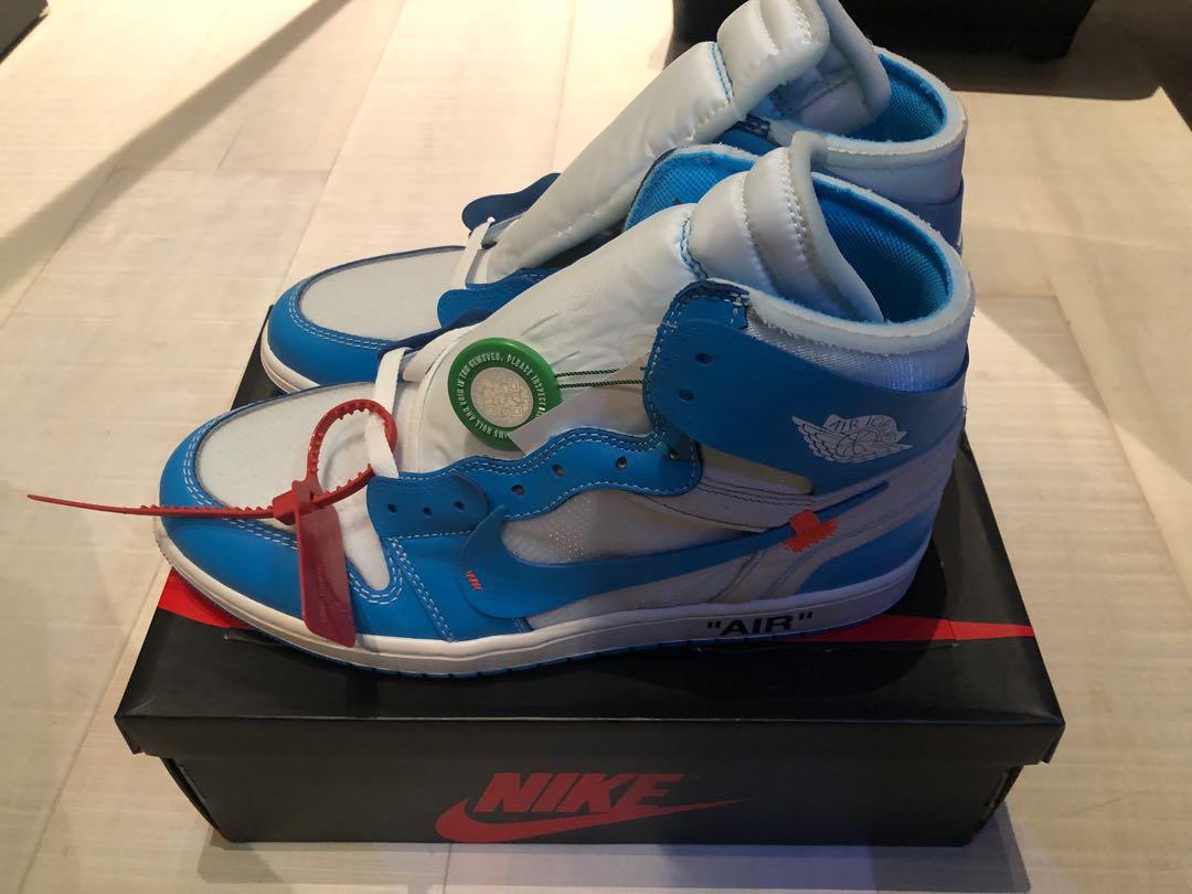 3df0f815fa1886 Nike Off White Jordan 1 UNC
