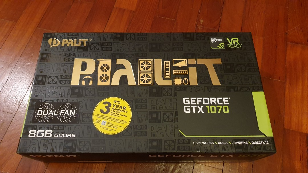 Palit GTX 1070 (used), Electronics, Computer Parts