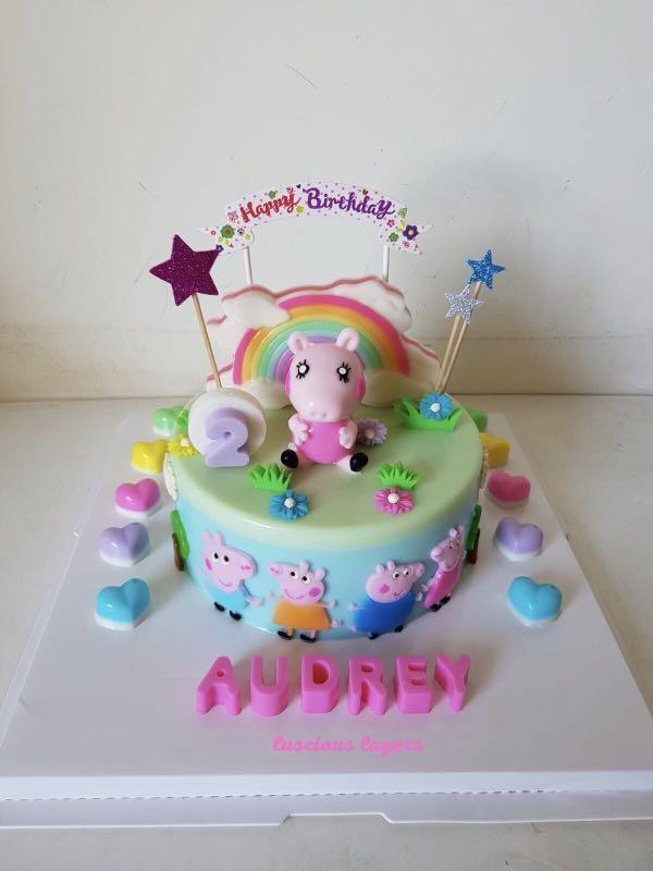 Peppa pig jelly cake