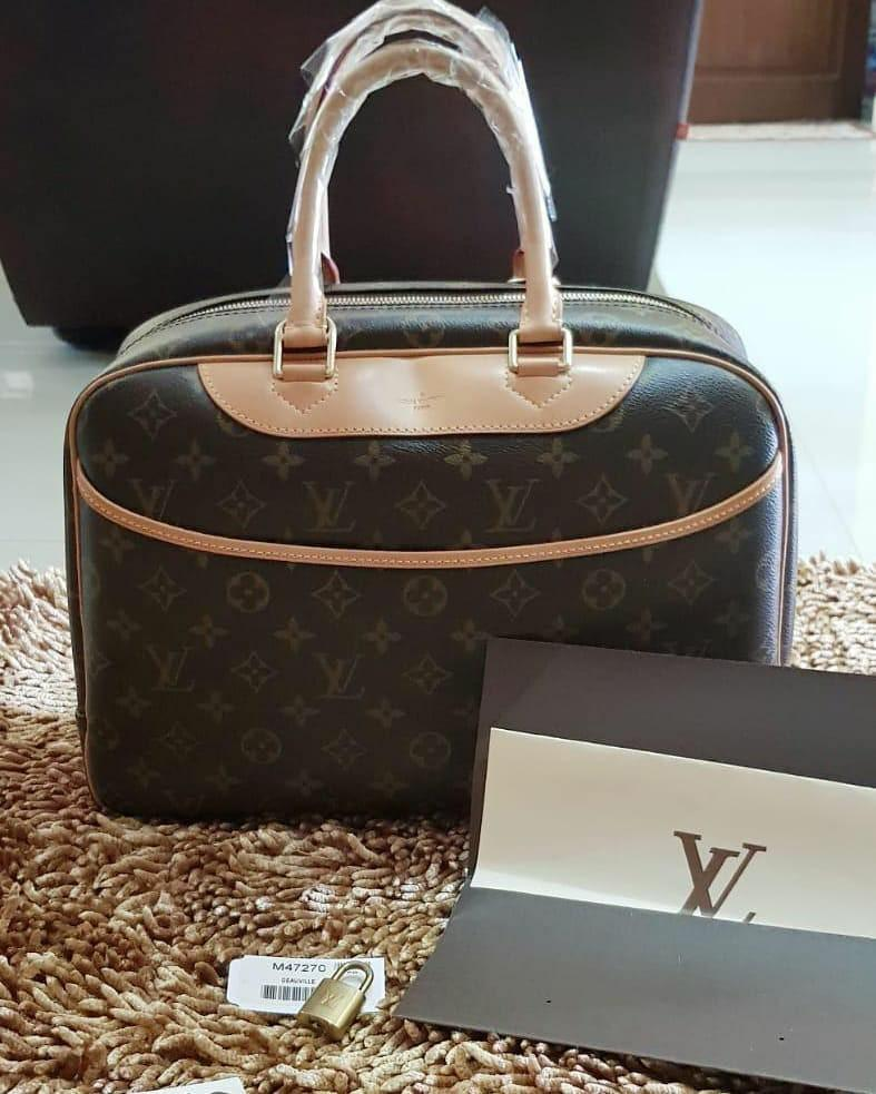 Pre❤️ EXCELLENT (RARE CONDITION 😍) Louis Vuitton Deauville Monogram 2014 Complete with dustbag, tag, barcode, keypadlock and original receipt, exclude ongkir