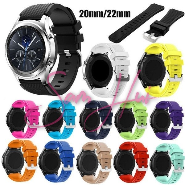 c3d4b7bfd16 Samsung Gear Replacement Soft Silicone Man Watch Bracelet Strap Gear ...