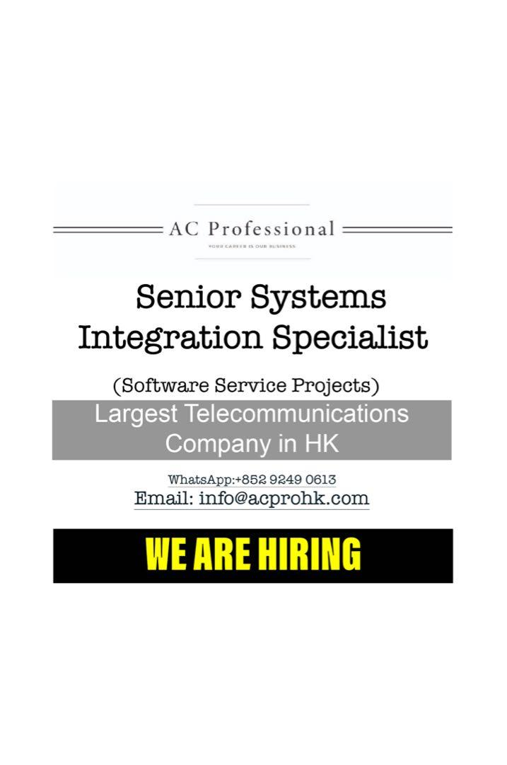 Senior Systems Integration Specialis