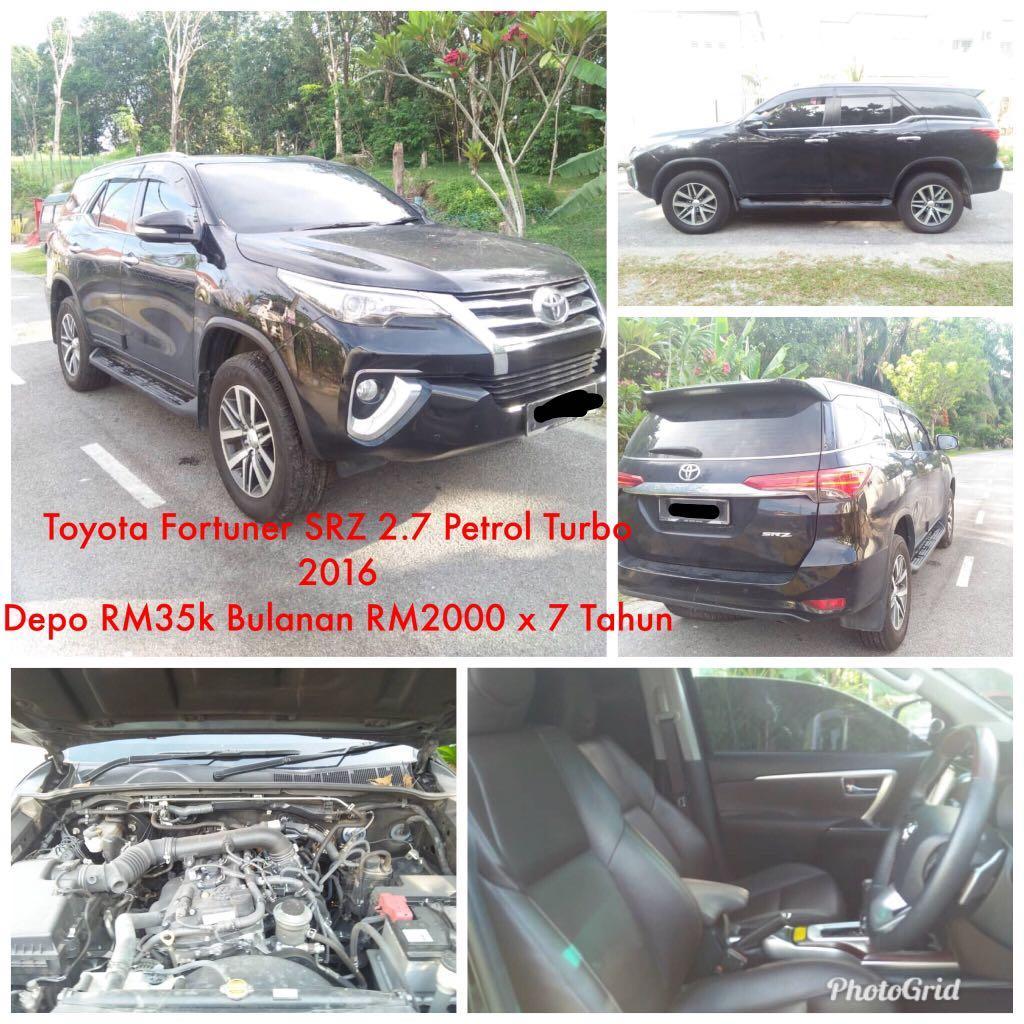 Sewa Beli Kenderaan Toyota Fortuner SRZ Petrol Turbo 2017