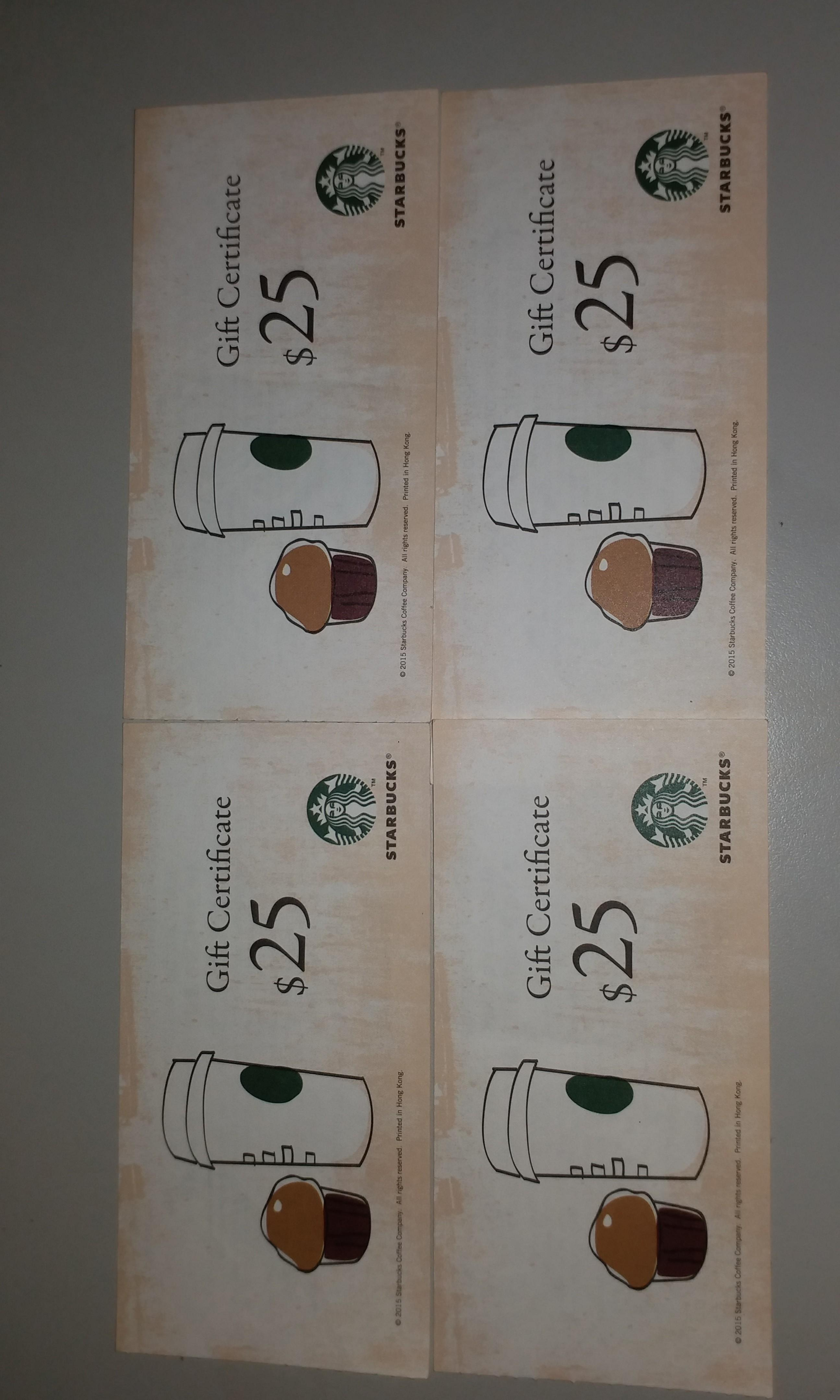 Starbucks Gift Certificate
