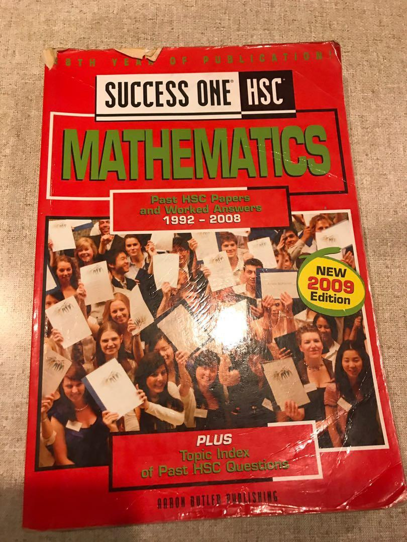 Success One HSC Mathematics Past HSC Papers and worked answers 1992 - 2008