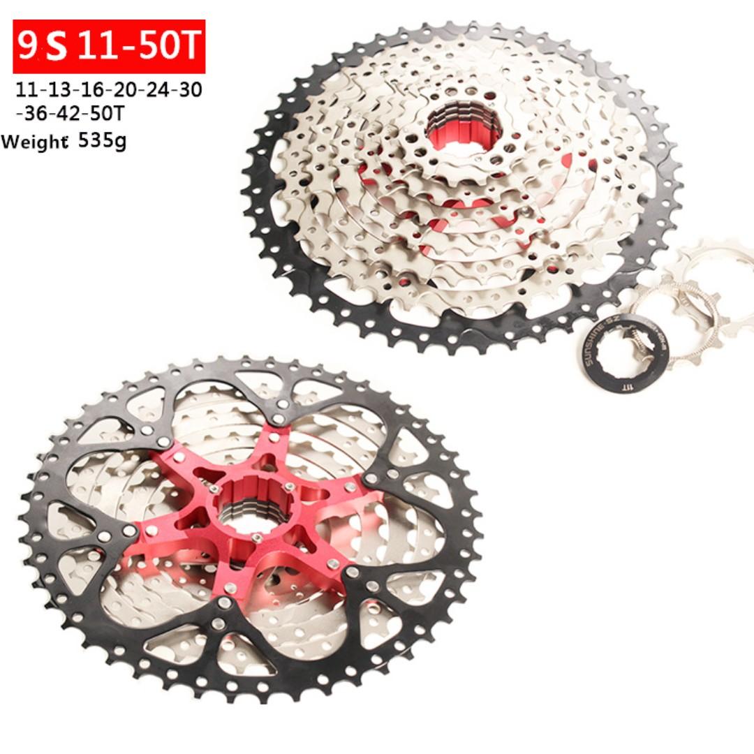 Cycling Sunshine Mtb Bike Bicycle 11 Speed Cassette 11-50t Cycling Freewheels Flywheel Sporting Goods