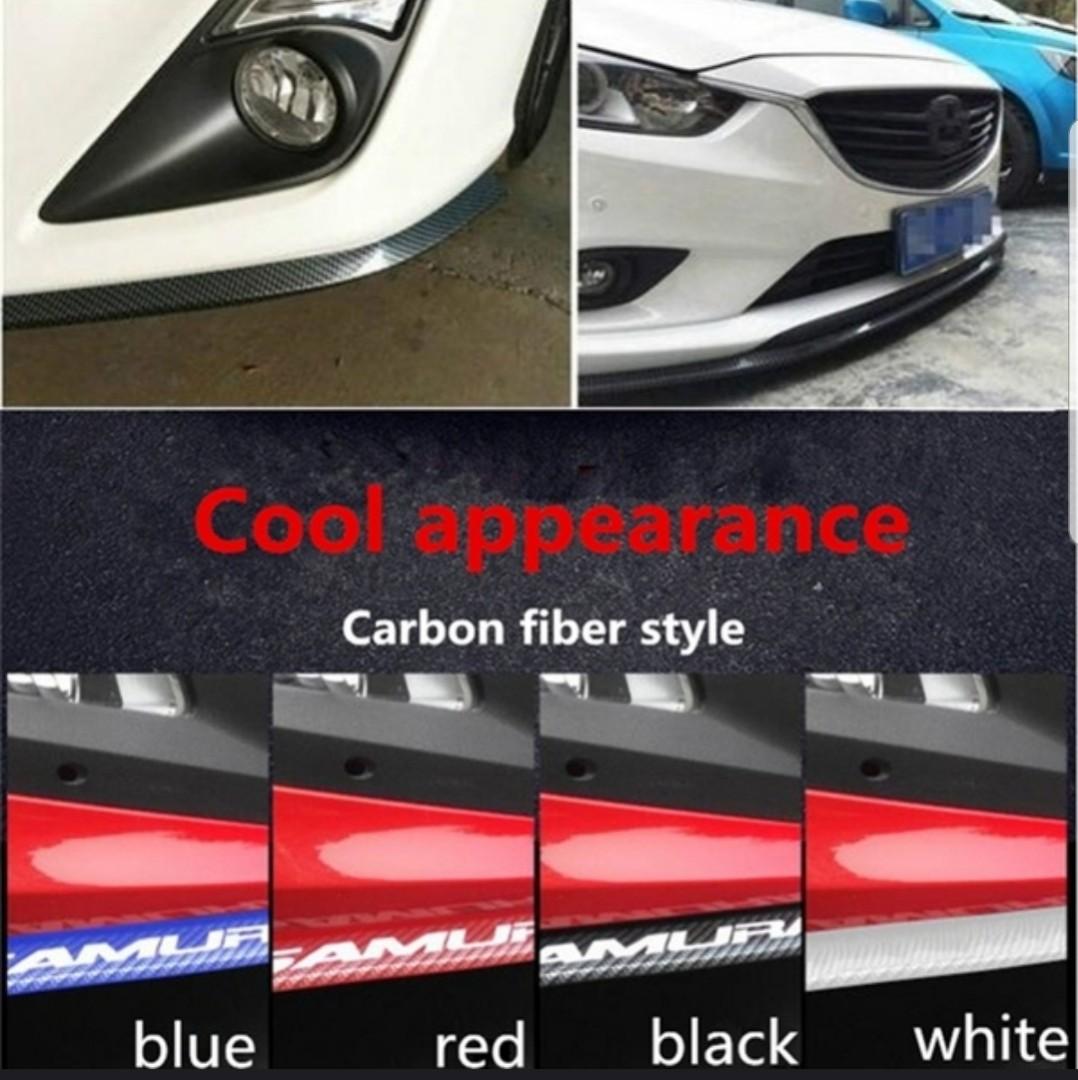 3Pcs Car Front Bumper Lip Splitter Body Side Spoiler Skirt Protector Universal w