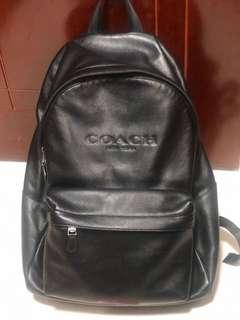 Coach Men Leather Backpack