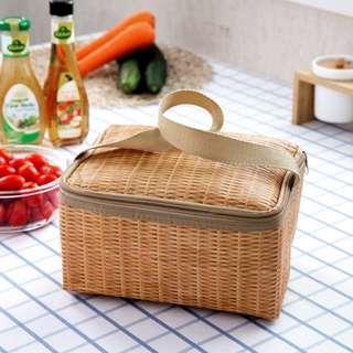 Rattan Print Thermal Cooler Tote Bag