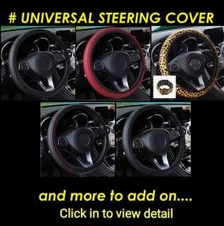 READY STOCKS Steering Wheel Cover Micro Fiber Leather Universal Size