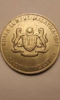 Antique Malaysia $1Coin