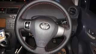 Toyota vios cover steering hand sewing diy