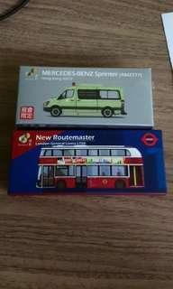 Tiny 微影玩具套裝,有巴士