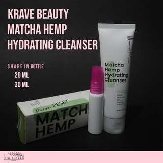 SHARE IN JAR KRAVEBEAUTY Matcha Hemp Hydrating Cleanser