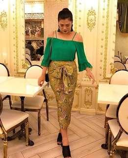 Latifah Bow Batik Skirt Pario Raya by Bella Nasir