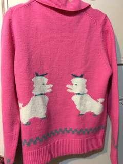 粉色毛線外套#半價衣服市集