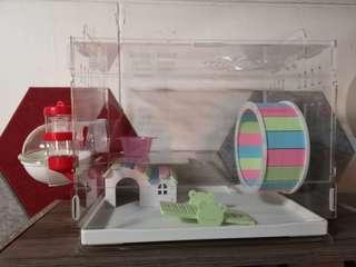 1 Tier Acrylic Hamster Cage