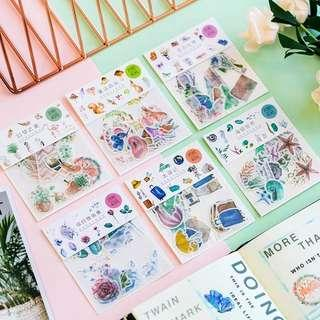 🚚 [In stock] 40 Pcs Watercolor Stickers for Scrapbooking/Journal