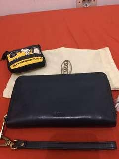 Dompet fossil navy blue (authentic)