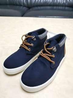 全新 oldnavy 男童 高筒鞋 綁帶 藍色