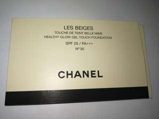 Les Beiges de CHANEL Healthy Glow Gel Touch Foundation SPF 25 / PA+++ n30 自然亮肌果凍氣墊粉底 3ml