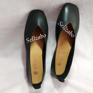 100% New Size 36 Ladies Flats Pumps Classic Simple Plain Black Colour Girls Women Woman Female Lady