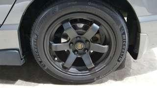 """16"""" TE37 Rims with Michelin Pilot Sport 4 Tires (PRICE REDUCED!!)"""