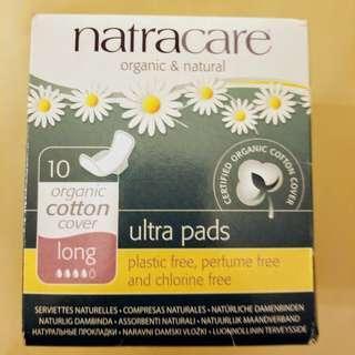 Natracare Ultra Pads Organic Cotton Long