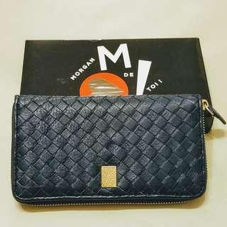 Morgan de toi Navy Leather Wallet from France
