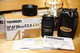 [全套有盒] Tamron SP AF 90mm F2.8 Marco 大光圈微距鏡 for Canon --- 1D 5D 6D 7D 80D 60D 600D 550D 可用