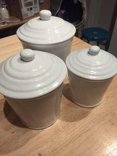 White cookie jars