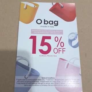 O bag IOI City Mall 15% off voucher
