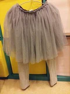 紗裙連長褲