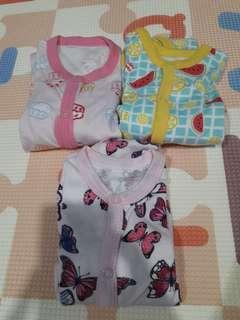 Girly sleepsuits