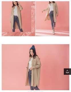 🚚 🇰🇷春夏必備單品#全新簡約長版上衣/薄外套襯衫(F)