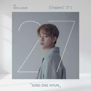 "[PREORDER] JUNG DAE HYUN 정대현 - CHAPTER2 ""27"" (1ST 미니앨범)"