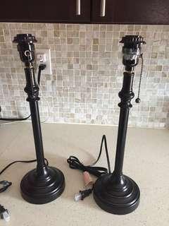 Pair of lamp bases
