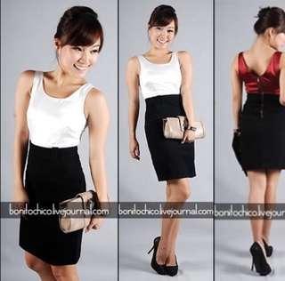 LB black and white dress