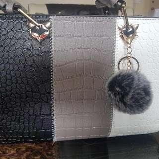 Brandnew Hand Bag, Synthetic Leather ( Crocodile Skin)