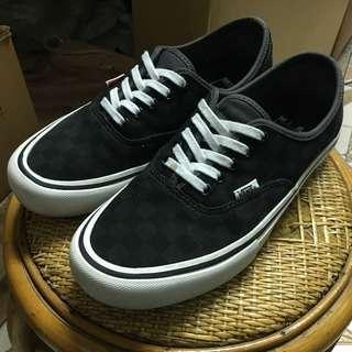 🚚 [US 8.5]VANS 黑色 格紋 經典 ERA PRO 加厚鞋墊 氣墊 滑板 美式 二手 OLD SKOOL SK8