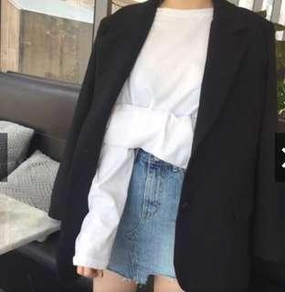 韓版寬鬆剪裁西裝外套