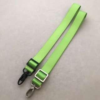 (Clearance) 1 inch lime green seat belt strap for Jujube