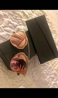 "Authentic Dior ""So Real"" Rose Gold Mirrored Sunglases"