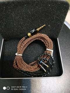 8絞mmcx全銅手工編織耳機線(DIY)